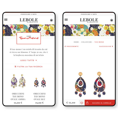 eCommerce UX/UI & Development e Digital Marketing| Progetto Lebole Gioielli | QUANTICO Digital Attitude